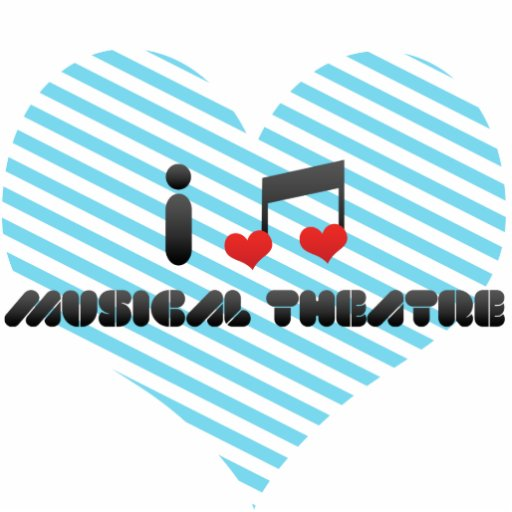 I Love Musical Theatre Standing Photo Sculpture