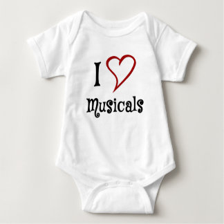 I Love Musicals Baby Bodysuit