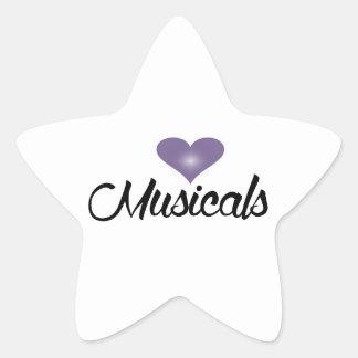 I love Musicals Star Sticker