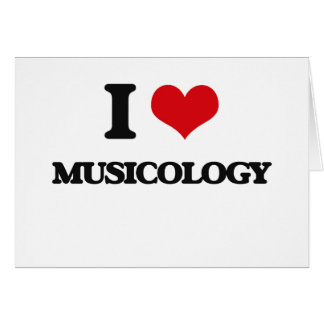 I Love Musicology Stationery Note Card