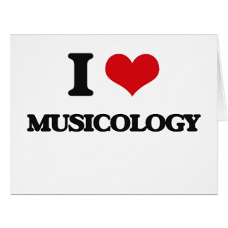 I Love Musicology Large Greeting Card