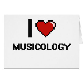 I Love Musicology Digital Design Stationery Note Card