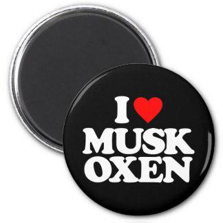 I LOVE MUSK OXEN MAGNET