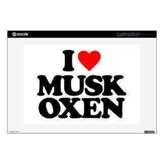 I LOVE MUSK OXEN SKINS FOR LAPTOPS