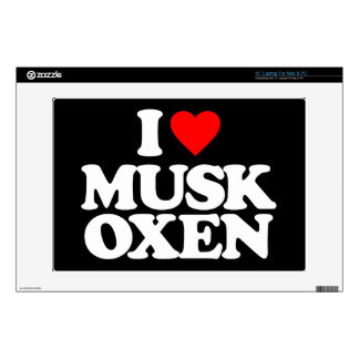 I LOVE MUSK OXEN LAPTOP DECALS