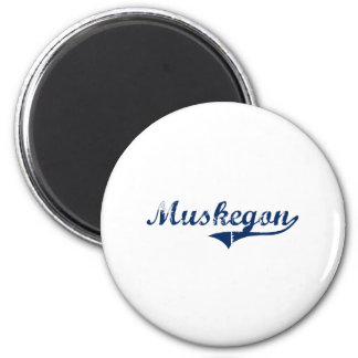 I Love Muskegon Michigan 2 Inch Round Magnet