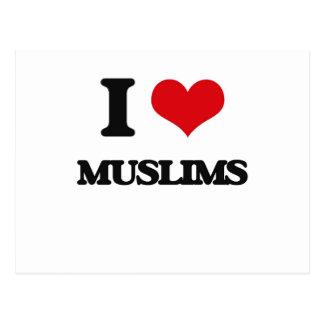 I Love Muslims Postcard