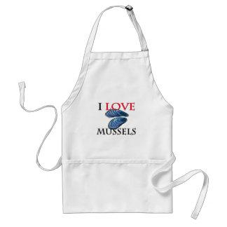 I Love Mussels Adult Apron