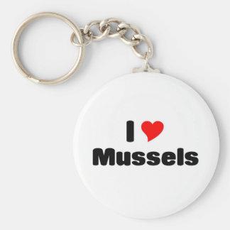 I love mussels basic round button keychain