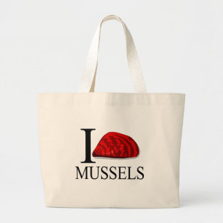 I Love Mussels Tote Bags