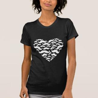 I Love Mustache Black and White T-shirt