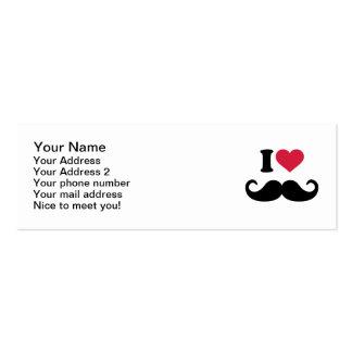 I love Mustache Business Card Template