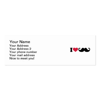 I love Mustache Business Cards