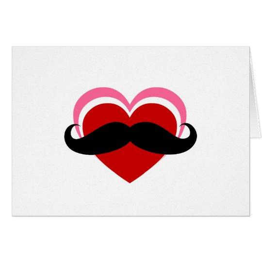 I LOVE MUSTACHE CARD