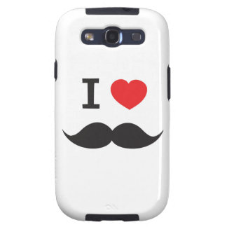 I Love Mustache Samsung Galaxy SIII Cases
