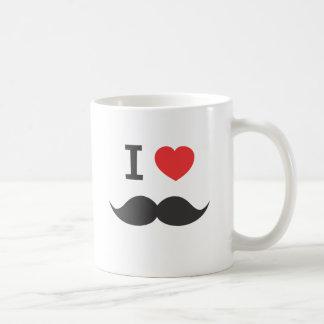 I love mustache coffee mug