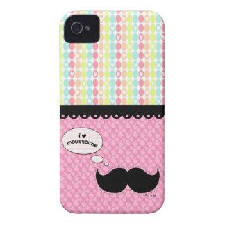 I Love Mustache Colorful Case-Mate iPhone 4 Case