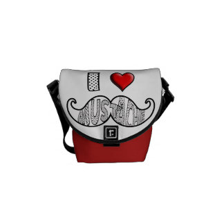 I Love Mustache Courier Bag