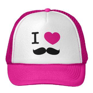 I LOVE MUSTACHE HAT