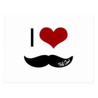 I love mustache postcard