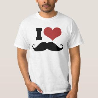 I Love Mustache T Shirt