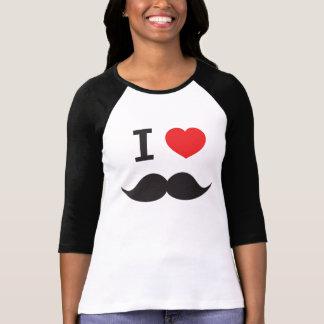 I Love Mustache T Shirts