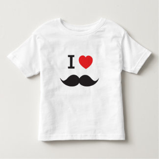 I Love Mustache Toddler T-shirt