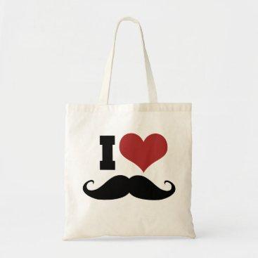 Piratesvsninjas I Love Mustache Tote Bag