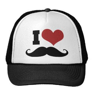 I Love Mustache Trucker Hat