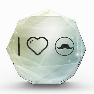 I Love Mustaches Acrylic Award