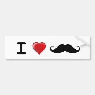 I love Mustaches Bumper Sticker