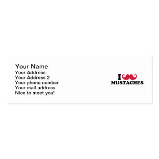 I love Mustaches Business Card Template