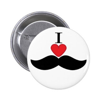 I love mustaches! pinback button