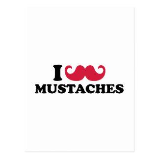 I love Mustaches Postcard