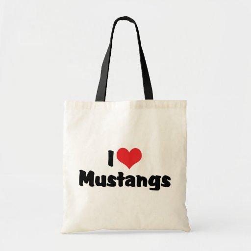 I Love Mustangs Bag
