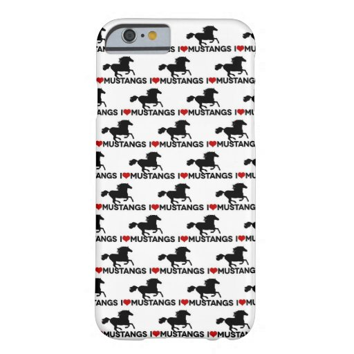 I Love Mustangs - iPhone 6 case