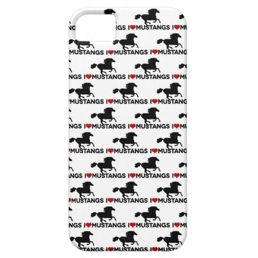 I Love Mustangs - iPhone Case iPhone 5/5S Case