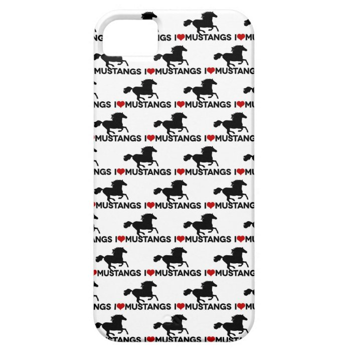 I Love Mustangs - iPhone Case