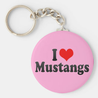 I Love Mustangs Key Chains