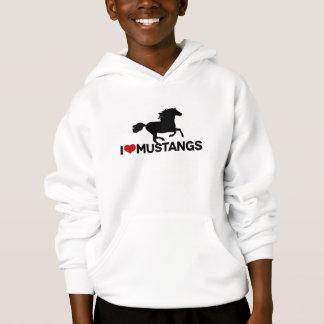 I Love Mustangs - Kids Hoodie