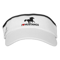I Love Mustangs - Visor