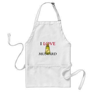 I Love Mustard Adult Apron