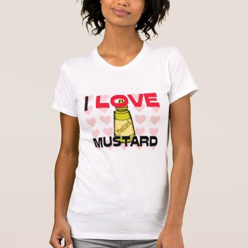I Love Mustard T Shirts