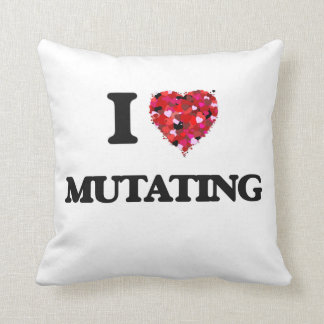 I Love Mutating Throw Pillows