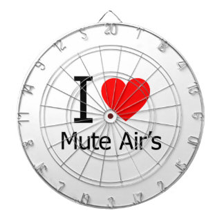 I Love Mute Air's Dart Board