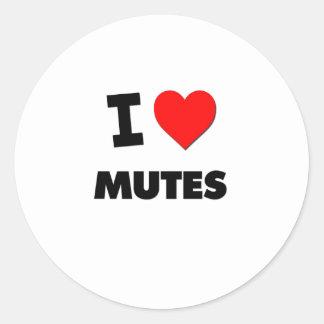I Love Mutes Stickers