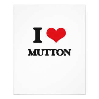 I Love Mutton Full Color Flyer