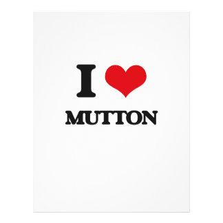 I Love Mutton Flyer Design