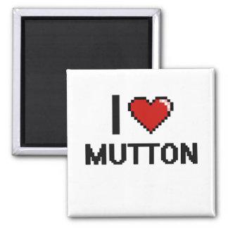 I Love Mutton 2 Inch Square Magnet