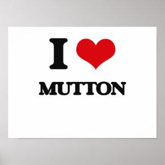 I Love Mutton Print